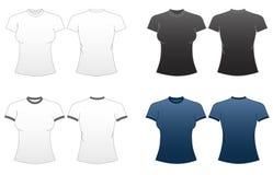 1 t zmieścić serii szablonów koszulowe kobiety Zdjęcia Stock