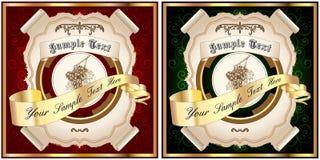 1 tappning för etiketter v Royaltyfria Foton