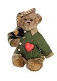 1 teddy βαλεντίνος Στοκ Φωτογραφίες