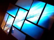 1 televisionvägg Arkivbilder