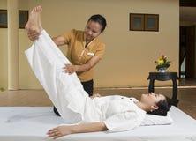 1 thai massagebrunnsort Royaltyfri Foto