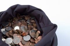 1 torba pieniędzy Zdjęcia Royalty Free