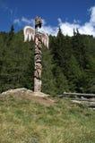 1 totem del palo della collina Fotografie Stock