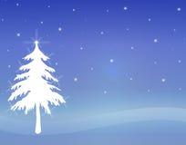 1 tree twinkling white Στοκ Εικόνα
