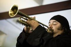 1 trumpetare Royaltyfria Bilder