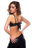 (1) tylnej brunetki dancingowej dziewczyny seksowny oblicze Zdjęcie Royalty Free