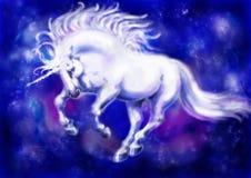 1 unicornwhite Arkivfoto