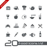 (1) ustawiającej karmowej podstawy 2 ikony Zdjęcie Stock
