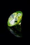 1 utsmyckade gröna yellow för 5 briljant ct Arkivfoto