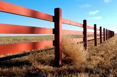 1 västra staket royaltyfri bild