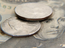 1 valuta Arkivfoto