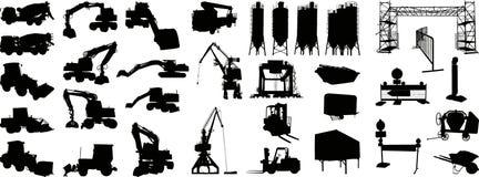 1 vecteur de site de silhouette de construction Photos stock