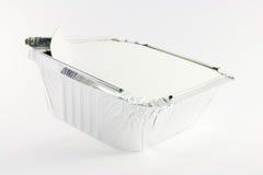 1 vierkante folie opende gedeeltelijk cateringsdienblad Royalty-vrije Stock Fotografie