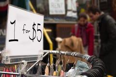 1 voor $5 Royalty-vrije Stock Fotografie