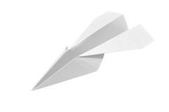 1 white paperplane Fotografia Royalty Free