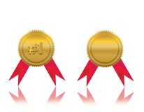 #1 Winner Award. With one empty award Stock Images