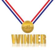 #1 Winner Award. Red Blue White Stock Image