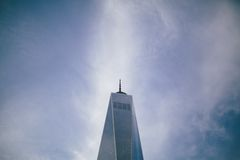 1 World Trade Center WTC Sky Scraper Blue Sky Architecture Stock Photo