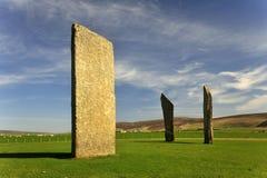 (1) wysp neolityczni Orkney trwanie stenness kamienie Zdjęcie Royalty Free