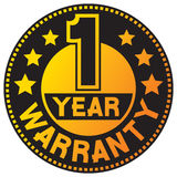 1 year. Warranty, one year warranty Royalty Free Stock Photography