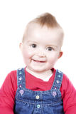 1 year old baby girl smiling at the camera Stock Photos