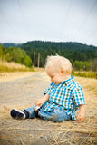 1 Year Old Boy Stock Photo