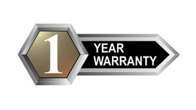 1 year warranty key. Vector art of a 1 year warranty key Stock Photos