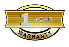 1 year warranty seal belt. Vector art of a 1 year warranty seal belt Stock Photo