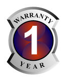 1 year warranty shield. Vector art on business icons Stock Photos