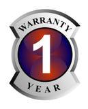 1 year warranty shield Stock Photos