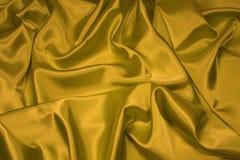 1 złota jedwab atłasowy tkaniny Zdjęcie Stock
