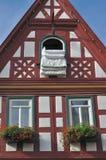 (1) zły duvet wimpfen okno fotografia stock