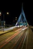 1 zakim моста boston Стоковое Изображение
