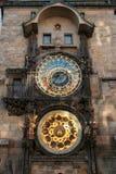 1 zegar Prague astronomiczne Obrazy Stock