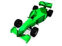 1 zielony samochód wyścigowy f 1 obj. Zdjęcie Royalty Free