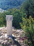 1 znak kamienia Zdjęcia Stock