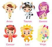 1 zodiac för tecken för symbolsdel set Fotografering för Bildbyråer