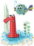 (1) zwierząt piłki ryba liczy denne serie Obraz Stock