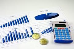 10个图表财务管理 免版税库存图片