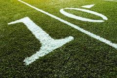 10个域橄榄球线路围场 库存图片