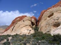 10个峡谷红色岩石 库存图片