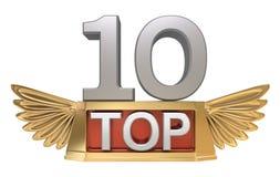 10个概念顶层 免版税库存图片