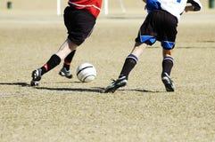 10个活动足球 免版税库存照片