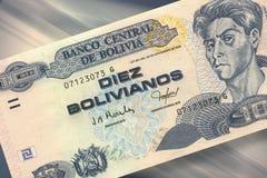 10个玻利维亚旧货币单位比索 免版税库存图片