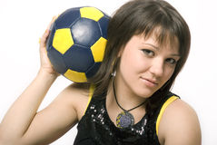 10个球女孩 免版税库存照片