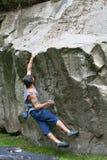 10个登山人男 库存图片