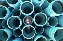 10个管道绿松石 免版税库存照片