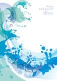 10个背景eps水 库存例证