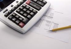 10个计算器关键语句 免版税库存照片