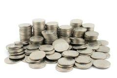 10个货币便士部分 免版税库存照片